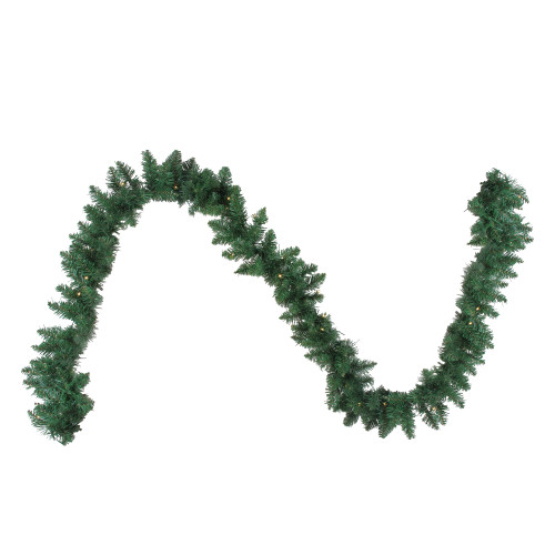 """9' x 10"""" B/O Pre-Lit Artificial Whitmire Pine Christmas Garland - Clear LED Lights - IMAGE 1"""