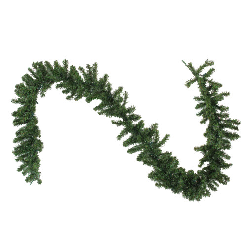 "9' x 10"" Pre-Lit LED Canadian Pine Artificial Christmas Garland - Clear Lights - IMAGE 1"