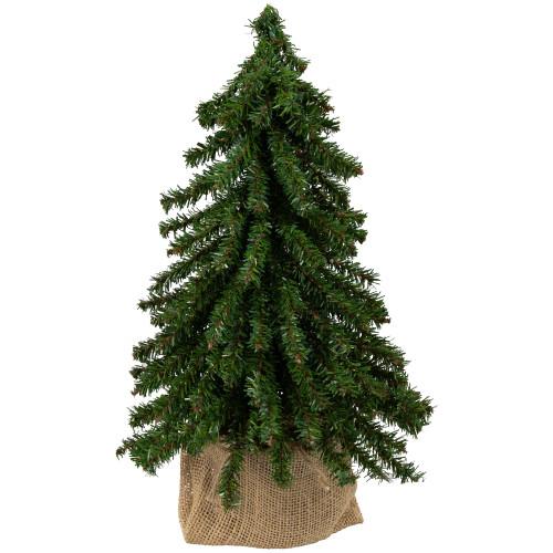 "12"" Potted Downswept Mini Village Pine Medium Artificial Christmas Tree - Unlit - IMAGE 1"