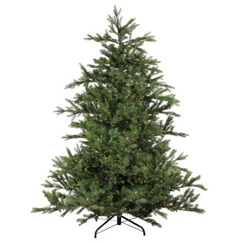 7.5' Pre-Lit Full Oregon Noble Fir Artificial Christmas Tree - Warm White LED Lights - IMAGE 1