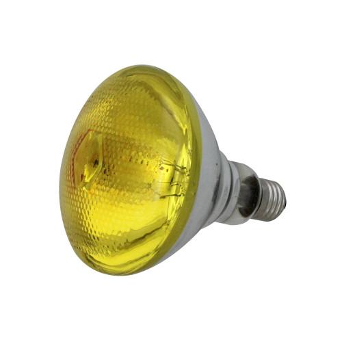 Incandescent Weatherproof 100 Watt Indoor/Outdoor Amber Floodlight Bulb - IMAGE 1