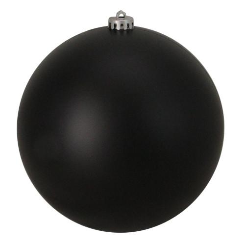 "Jet Black Matte Shatterproof Commercial Christmas Ball Ornament 6"" (150mm) - IMAGE 1"