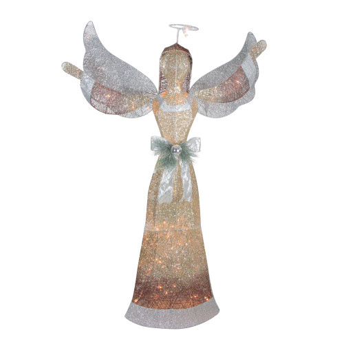 4.5' Lighted and Glittered Angel Outdoor Christmas Yard Art - IMAGE 1