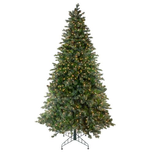 9' Pre-Lit Medium Savannah Spruce Artificial Christmas Tree - Clear Lights - IMAGE 1