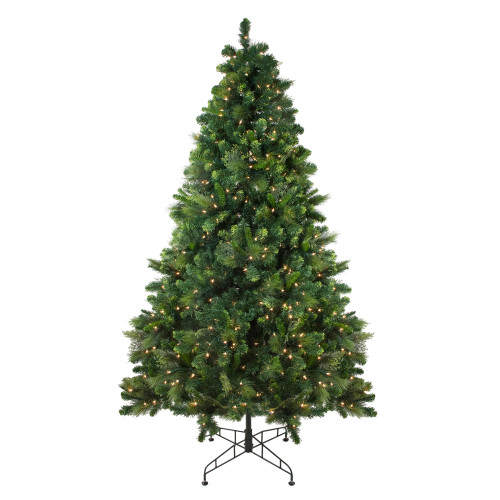 7.5' Pre-Lit Medium Sequoia Mixed Pine Artificial Christmas Tree - Clear Lights - IMAGE 1