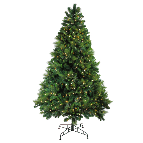 7.5' Pre-Lit Medium Sequoia Mixed Pine Artificial Christmas Tree - Warm White LED Lights - IMAGE 1