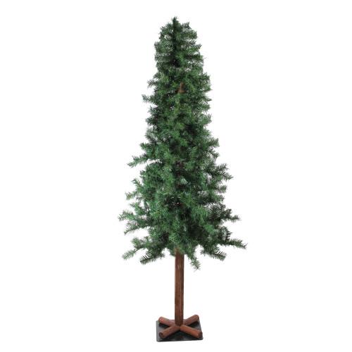 7' Slim Traditional Woodland Alpine Artificial Christmas Tree – Unlit - IMAGE 1