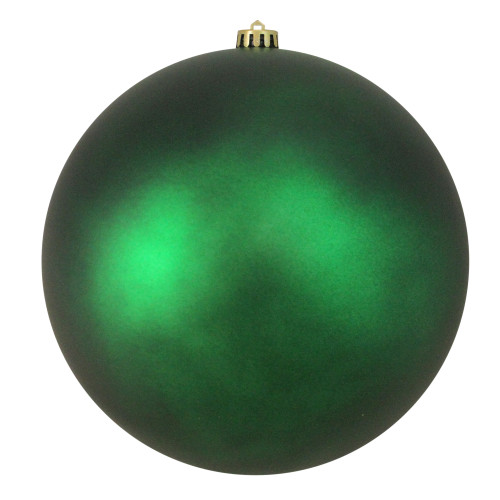 "Matte Green Shatterproof Christmas Ball Ornament 10"" (250mm) - IMAGE 1"