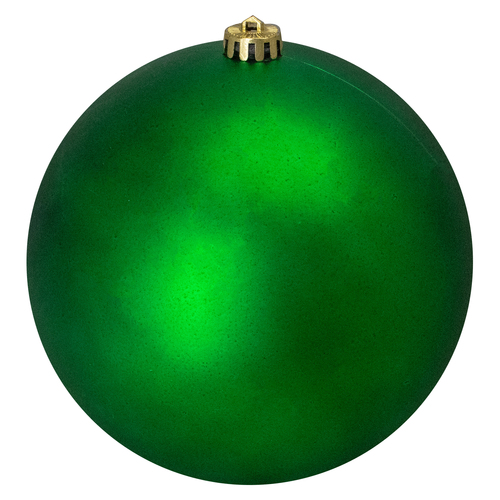 "Matte Green Shatterproof Christmas Ball Ornament 8"" (200mm) - IMAGE 1"