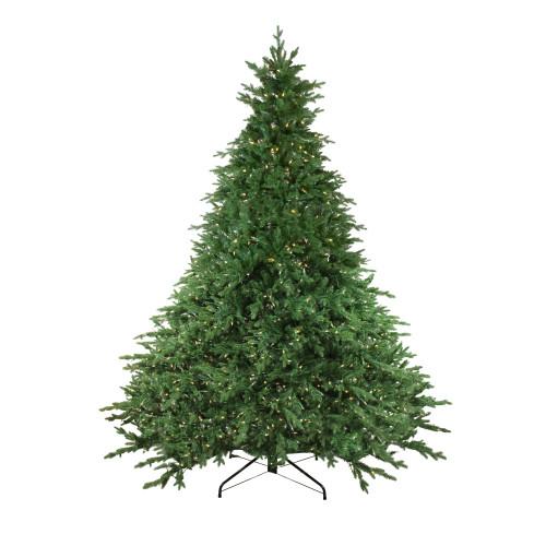 9' Pre-Lit Full Minnesota Balsam Fir Artificial Christmas Tree - Clear LED Lights - IMAGE 1