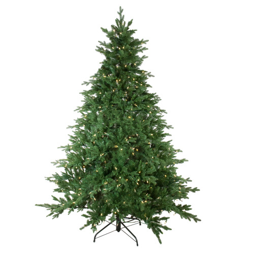 7.5' Pre-Lit Medium Minnesota Balsam Fir Artificial Christmas Tree - Warm Clear LED Lights - IMAGE 1