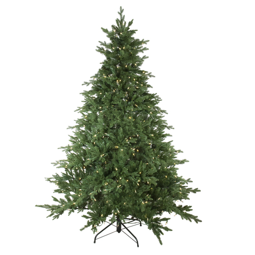 6.5' Pre-Lit Full Minnesota Balsam Fir Artificial Christmas Tree - Clear LED Lights - IMAGE 1