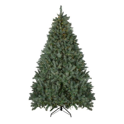 7.5' Pre-Lit Full Grande Spruce Artificial Christmas Tree - Dual Color LED Lights - IMAGE 1