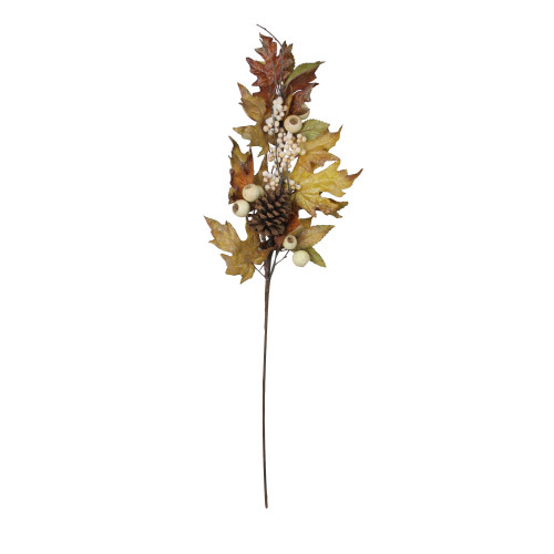 """30"""" Autumn Thanksgiving Leaf and Berry Artificial Fall Spray - IMAGE 1"""