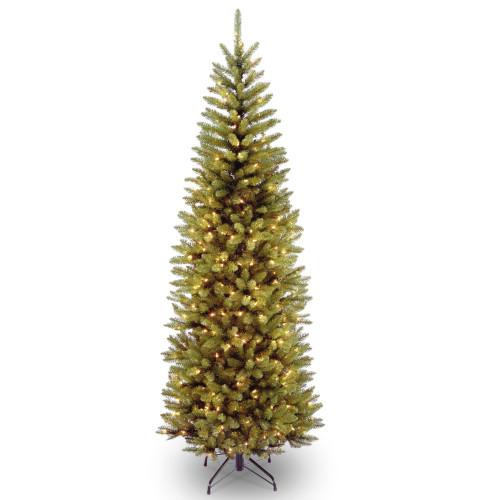 7' Pre-lit Kingswood Fir Pencil Artificial Christmas Tree –Clear Lights - IMAGE 1