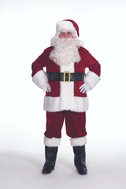 7-Piece Red Velvet Christmas Santa Suit - Adult Size XXL - IMAGE 1