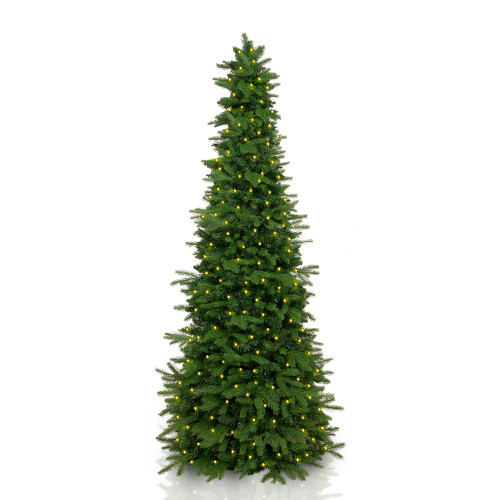 7.5' Pre-Lit Natural Artificial Christmas Tree – Warm White LED Lights - IMAGE 1