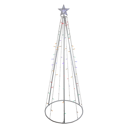 6' Multi-Color LED Lighted Cone Tree Outdoor Christmas Decoration - IMAGE 1