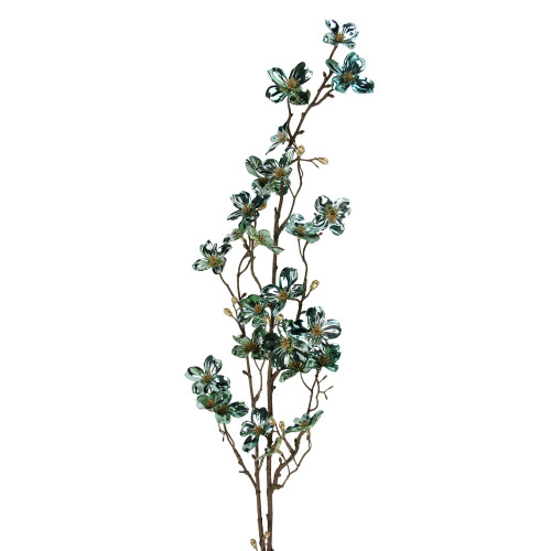 """43"""" Green and Brown Artificial Dogwood Floral Christmas Craft Spray - IMAGE 1"""