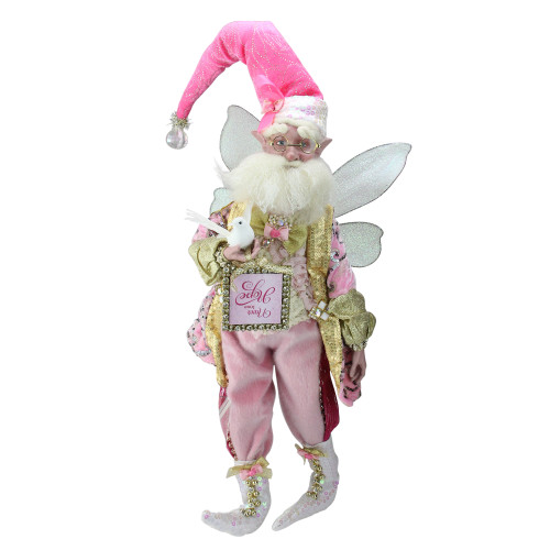 Pink and Gold Spirit of Hope Breast Cancer Awareness Fairy - Large - IMAGE 1