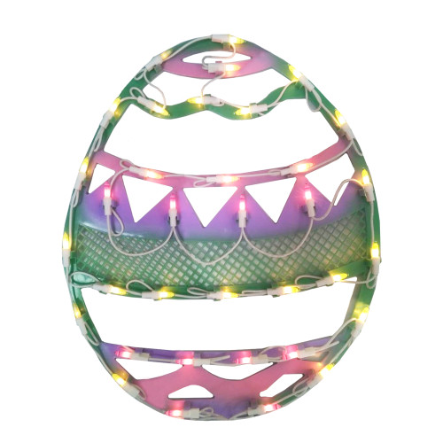"""17"""" Pastel Colored Lighted Easter Egg Spring Window Silhouette Decor - IMAGE 1"""