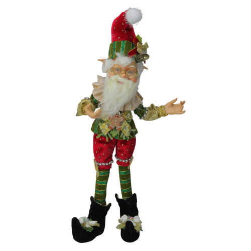 """Mark Roberts Collectible Northpole Jester Christmas Elf #51-85612 - Small 13"""" - IMAGE 1"""