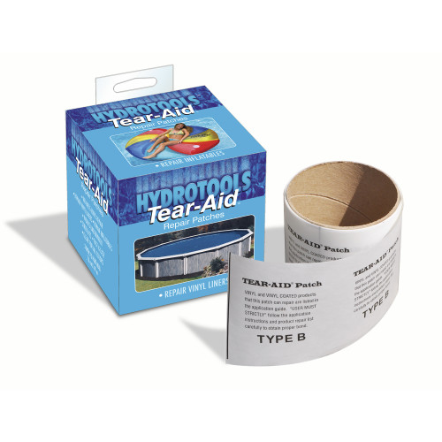 "3"" Gray HydroTools Tear-Aid Multi-Use Vinyl Repair Patch for Pools - IMAGE 1"