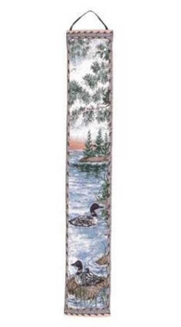 """Loon Lake Geese Bell Pull Tapestry Wall Hanging 6"""" x 36"""" - IMAGE 1"""