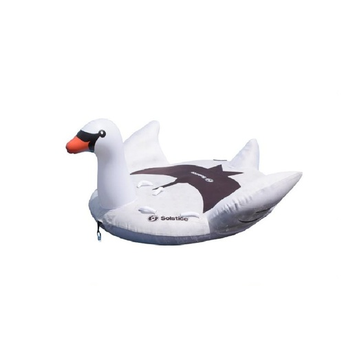 Inflatable Lay-on Swan Towable Float, 84-Inch - IMAGE 1