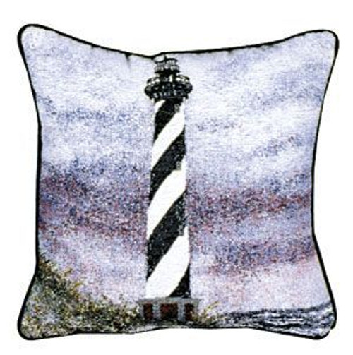 """Set of 2 Cape Hatteras Lighthouse Throw Pillows 12"""" - IMAGE 1"""