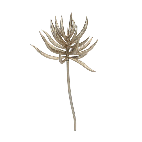 """9.5"""" Silver and Brown Glittered Aeonium Artificial Christmas Spray - IMAGE 1"""