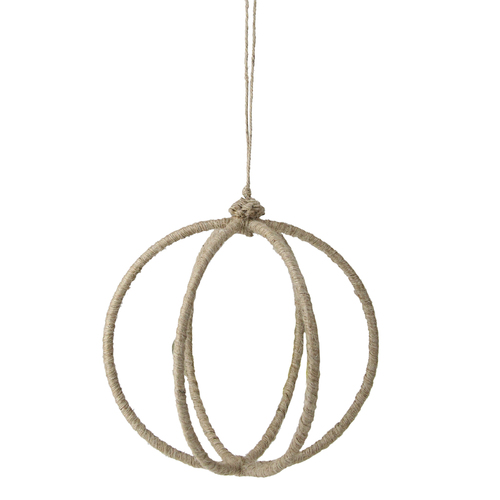 """Beige Wrapped Oval Christmas Hanging Ornament 19"""" (480mm) - IMAGE 1"""