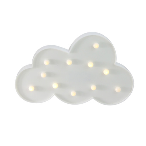 """11.5"""" White Cloud LED Marquee Wall Sign - IMAGE 1"""