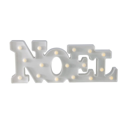 """17"""" White 'NOEL' LED Christmas Marquee Wall Sign - IMAGE 1"""