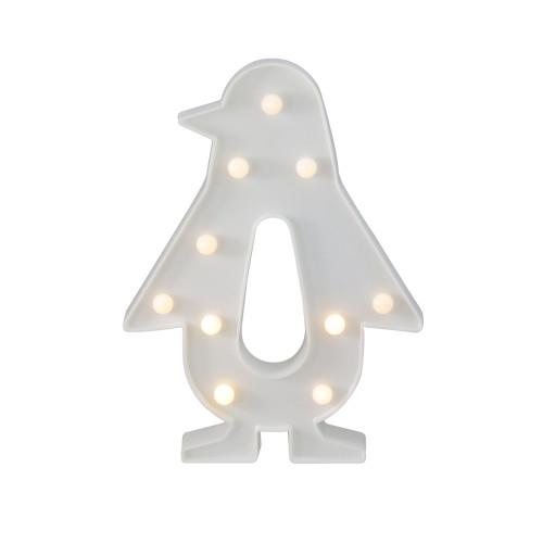 "10.25"" White Penguin LED Marquee LED Sign - IMAGE 1"