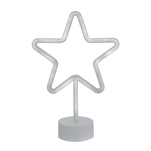 "11.5"" White Neon LED Star Contemporary Table Light - IMAGE 1"
