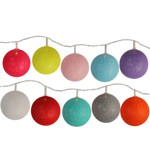 10-Count Multi-Color Ball LED String Lights - IMAGE 1