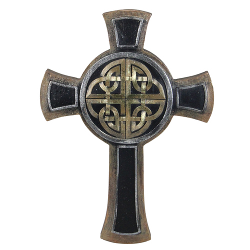 "9.25"" Single Celtic Knot Designed Religious Wall Cross - IMAGE 1"