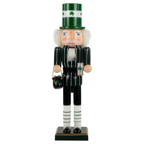 "14"" Green Luck of the Irish Leprechaun Christmas Nutcracker - IMAGE 1"