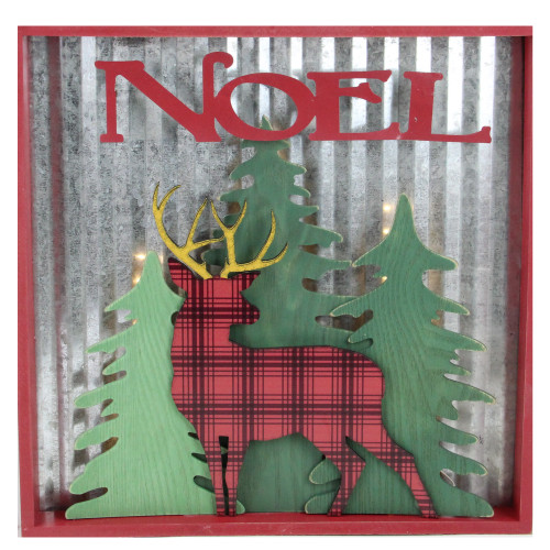 "13.75"" Lighted Reindeer ""Noel"" Christmas Wall Decoration - IMAGE 1"