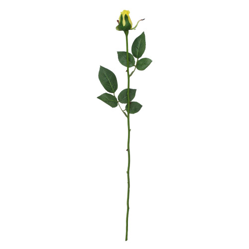 """23"""" Yellow and Green Long Single Stem Budding Rose Artificial Pick - IMAGE 1"""