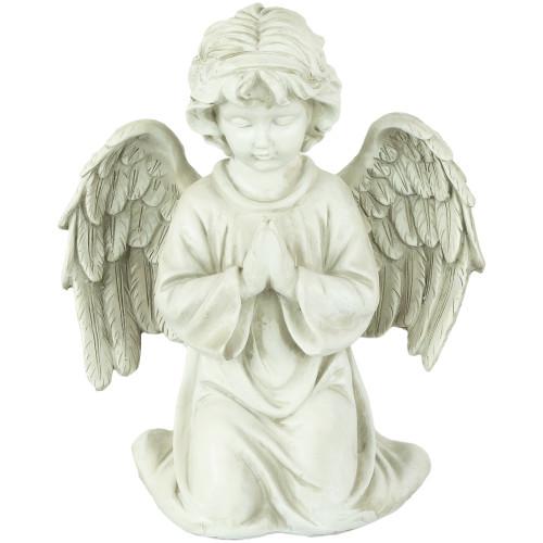 """15"""" Kneeling in Prayer Cherub Outdoor Garden Statue - IMAGE 1"""