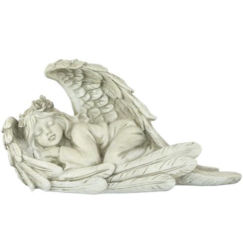 """16"""" Sleeping Heavenly Angel Outdoor Garden Statue - IMAGE 1"""