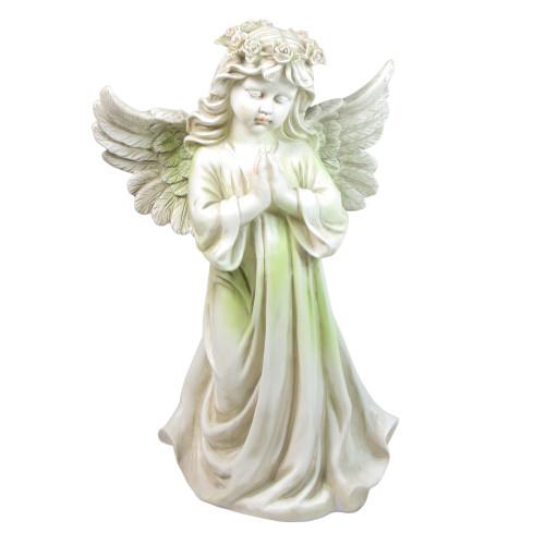 """27"""" Angel Kneeling in Prayer Outdoor Patio Garden Statue - IMAGE 1"""