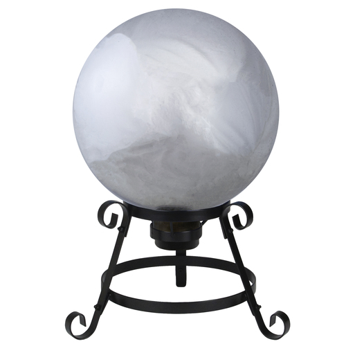 "10"" Silver Mirrored Garden Gazing Ball - IMAGE 1"