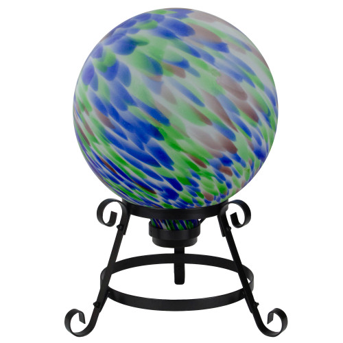 "10"" Swirled Outdoor Garden Gazing Ball - IMAGE 1"
