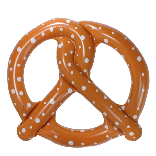 6' Inflatable Brown Giant Pretzel Pool Ring Float - IMAGE 1