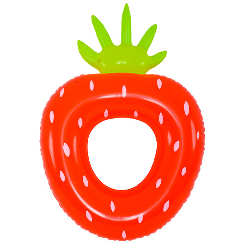 """30"""" Inflatable Red Strawberry Children Pool Ring Float - IMAGE 1"""