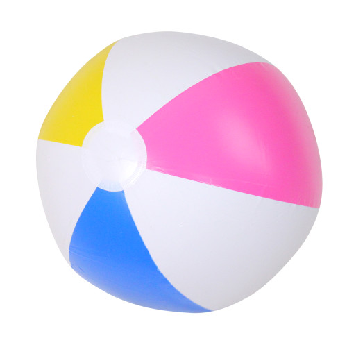 """16"""" Inflatable 6-Panel Beach Ball Swimming Pool Toy - IMAGE 1"""