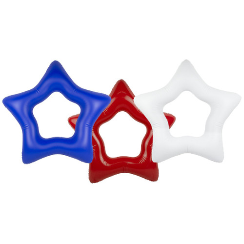 Set of 3 Red, White and Blue American Star Inner Tubes, 36-Inch - IMAGE 1